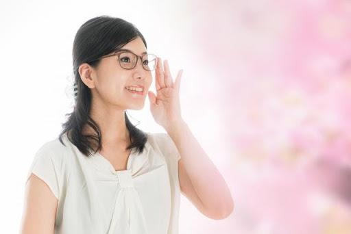 視力低下女性
